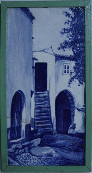 Placa de azulejo representando a antiga Casa da Câmara