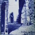 "Placa de azulejo representando a ""Porta de D. Deniz"""